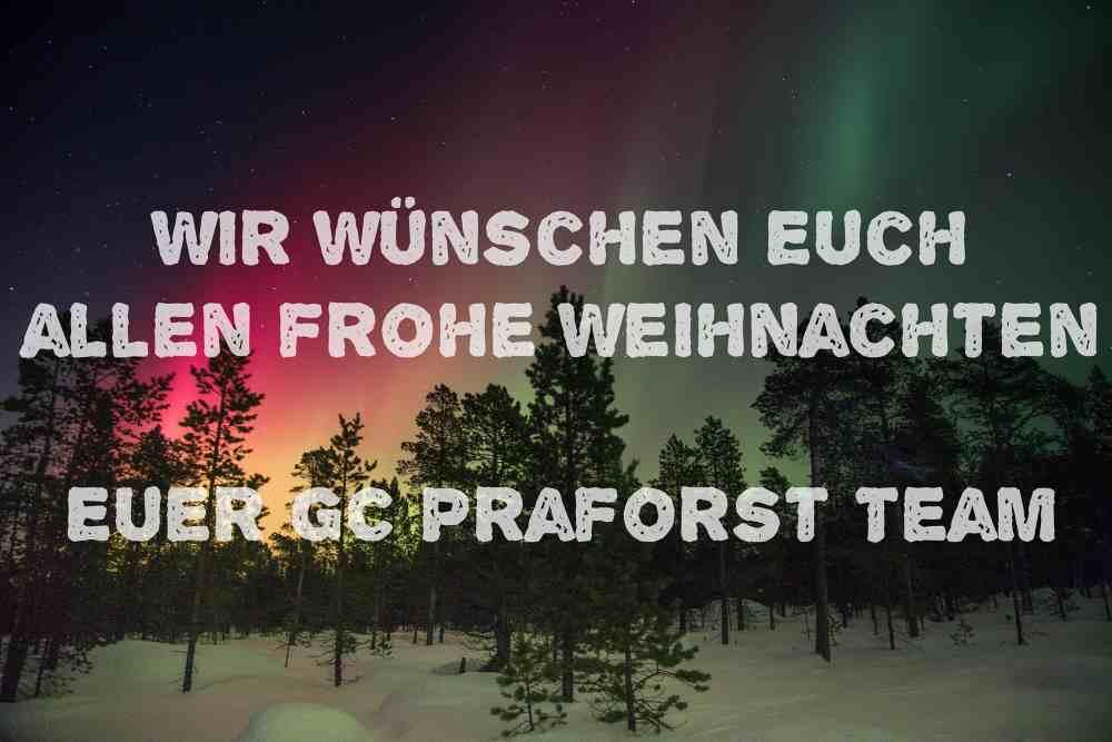 Frohe Weihnachten Euch Allen.Frohe Weihnachten Und Erholsame Festtage Wünscht Das Gc Praforst Team