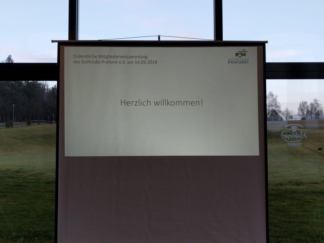 Golfclub Praforst Ordentliche Mitgliederversammlung 14.03.