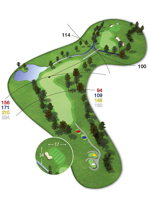 18 Loch Ostkurs Bahn 1 im Golfclub Praforst