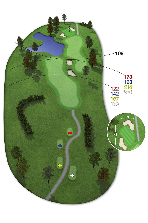 18 Loch Ostkurs Bahn 10 im Golfclub Praforst
