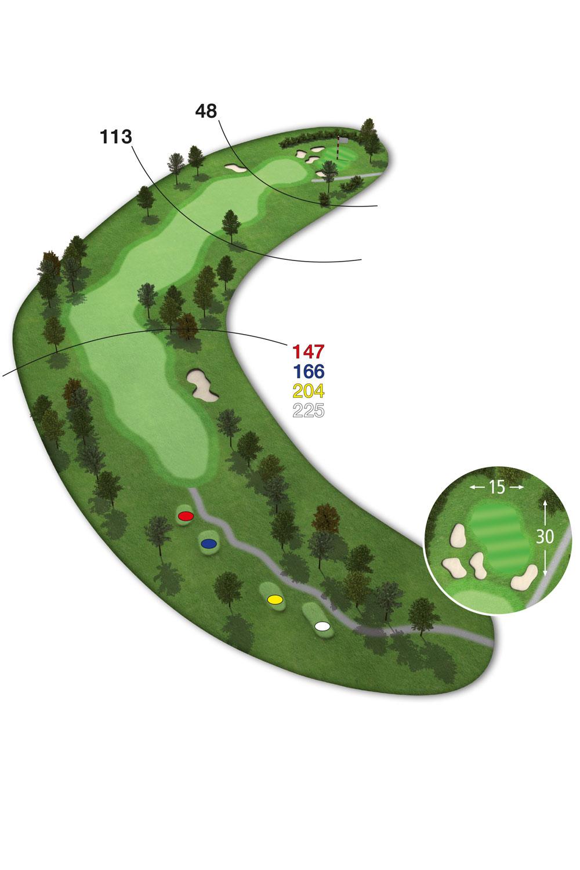 18 Loch Ostkurs Bahn 13 im Golfclub Praforst