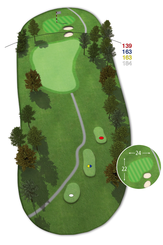 18 Loch Ostkurs Bahn 15 im Golfclub Praforst