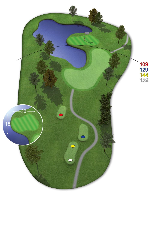 18 Loch Ostkurs Bahn17 im Golfclub Praforst