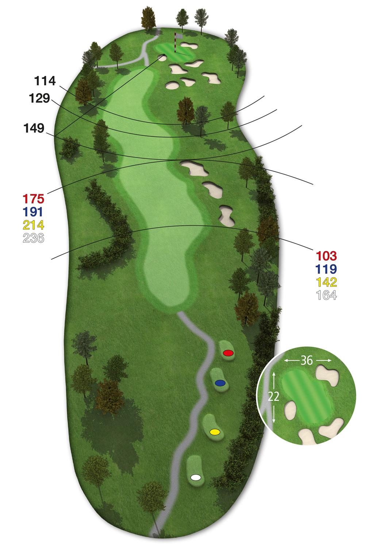 18 Loch Ostkurs Bahn18 im Golfclub Praforst