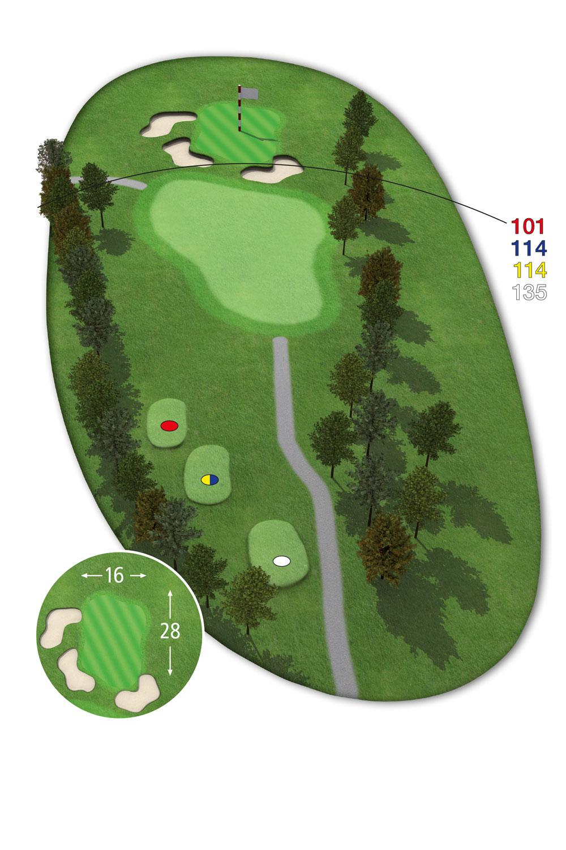 18 Loch Ostkurs Bahn 2 im Golfclub Praforst