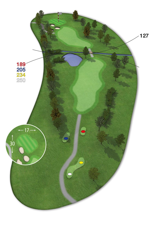 18 Loch Ostkurs Bahn 3 im Golfclub Praforst