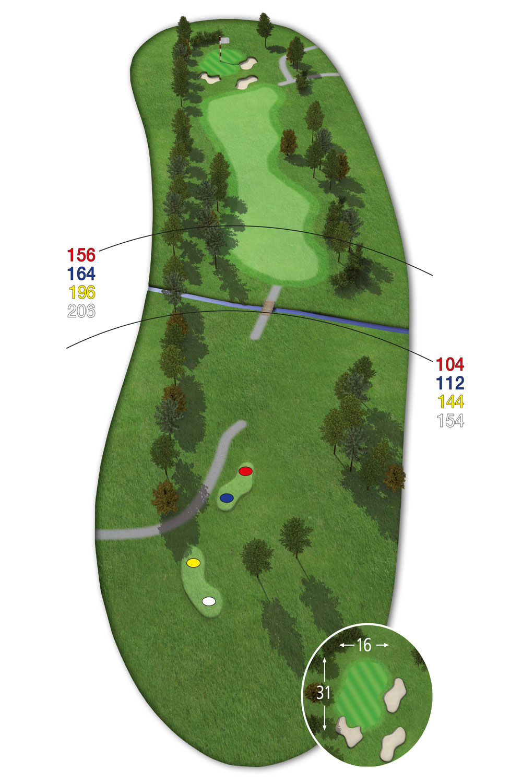 18 Loch Ostkurs Bahn 4 im Golfclub Praforst
