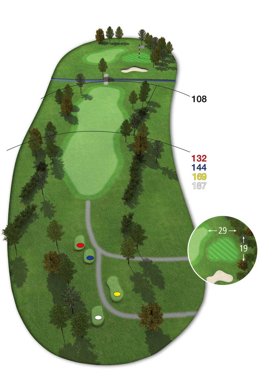 18 Loch Ostkurs Bahn 5 im Golfclub Praforst