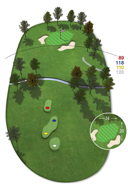 18 Loch Ostkurs Bahn 7 im Golfclub Praforst