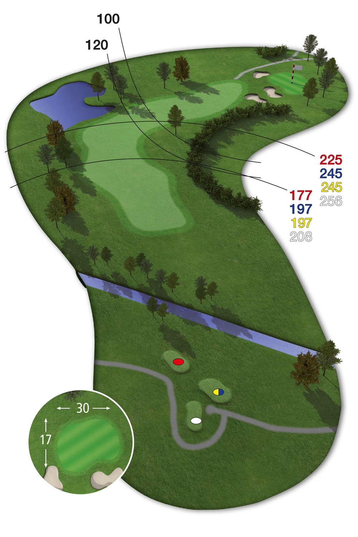 18 Loch Ostkurs Bahn 8 im Golfclub Praforst