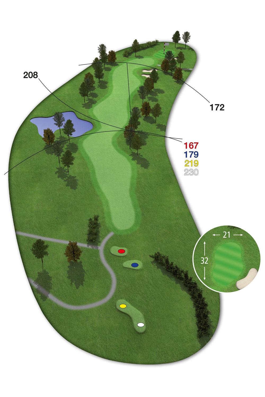 18 Loch Ostkurs Bahn 9 im Golfclub Praforst