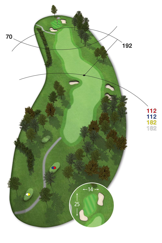 9 Loch Westkurs Bahn 1 im Golfclub Praforst