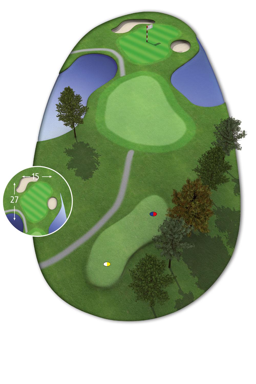 9 Loch Westkurs Bahn 3 im Golfclub Praforst
