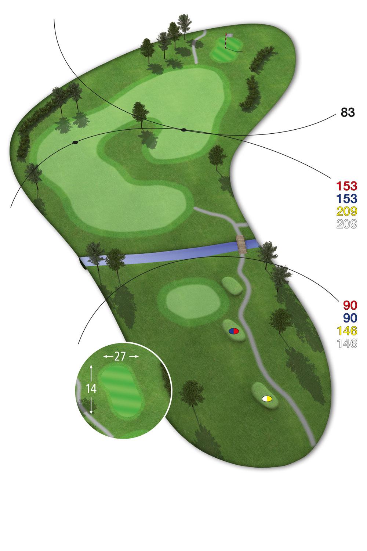 9 Loch Westkurs Bahn 4 im Golfclub Praforst