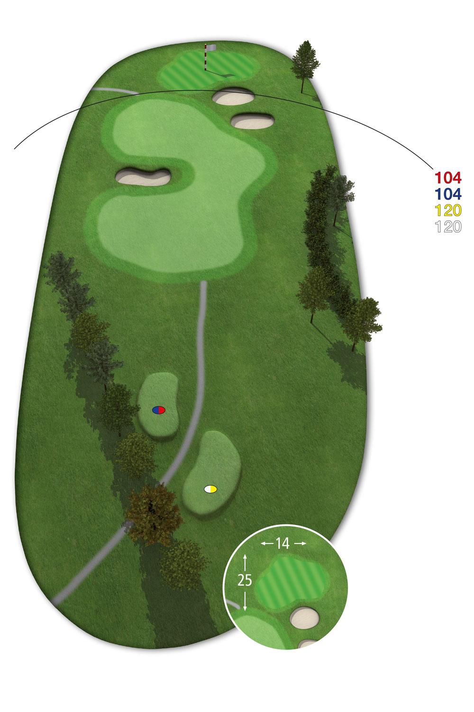 9 Loch Westkurs Bahn 5 im Golfclub Praforst