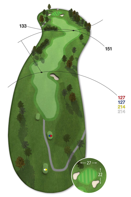 9 Loch Westkurs Bahn 7 im Golfclub Praforst