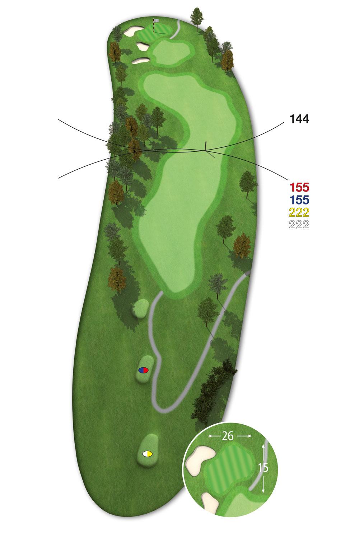 9 Loch Westkurs Bahn 8 im Golfclub Praforst