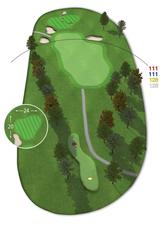 9 Loch Westkurs Bahn 9 im Golfclub Praforst