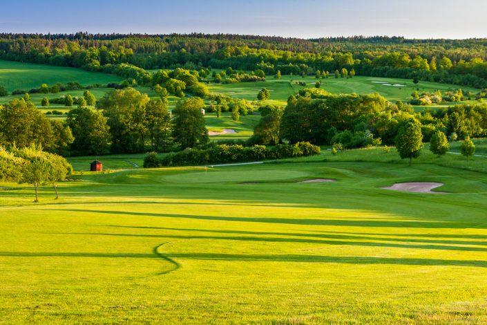Blick vom 11. Fairway auf dem Ostkurs im Golfclub Praforst