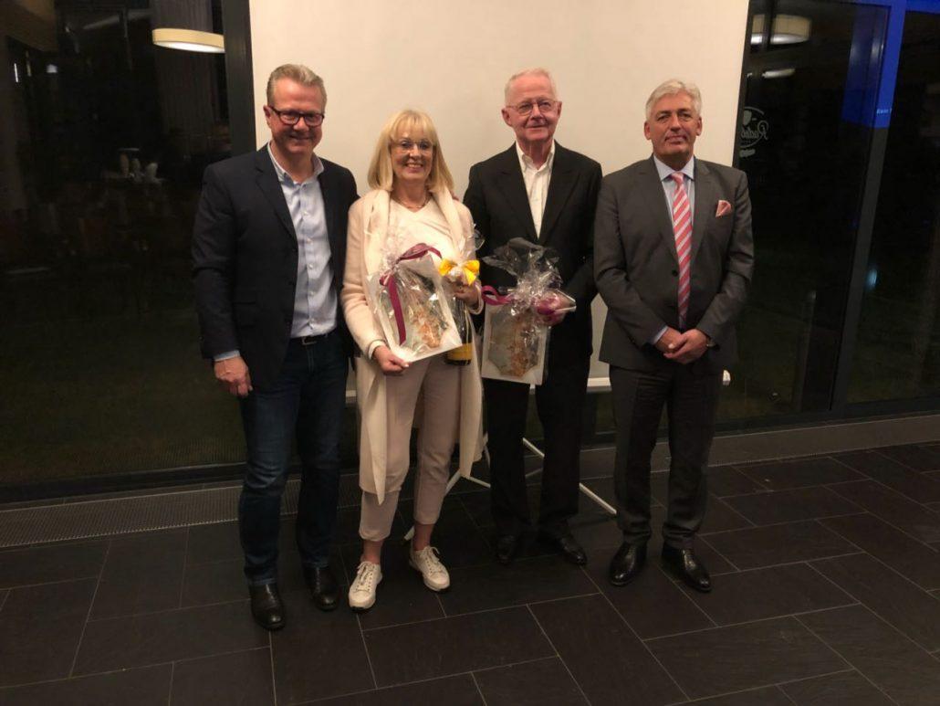 Verabschiedung Golclub Praforst Vorstand Jugend Monika Jordan und Vorstand Finanzen Winfried Herber