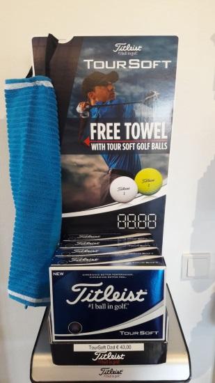 Golfshop Aktion 12 Tour Soft Golfbälle und 1 Handtuch grats dazu Golfclub Praforst