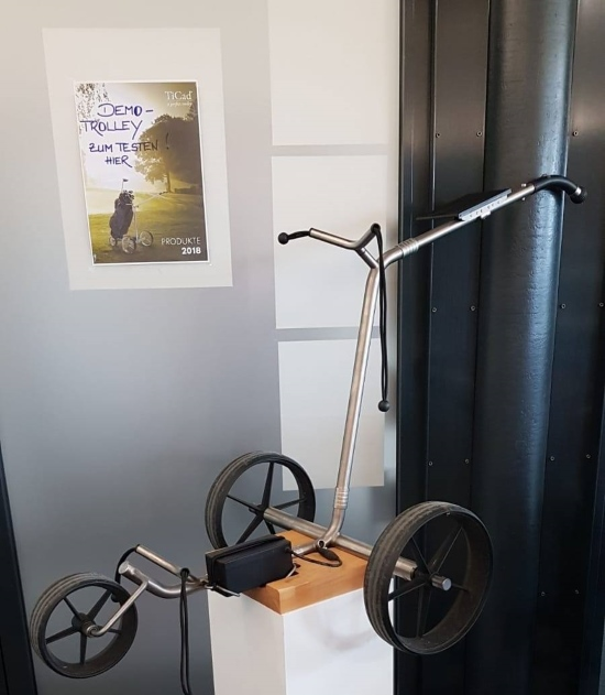 Demotrolley TiCad Goldfinger zum Testen im Proshop