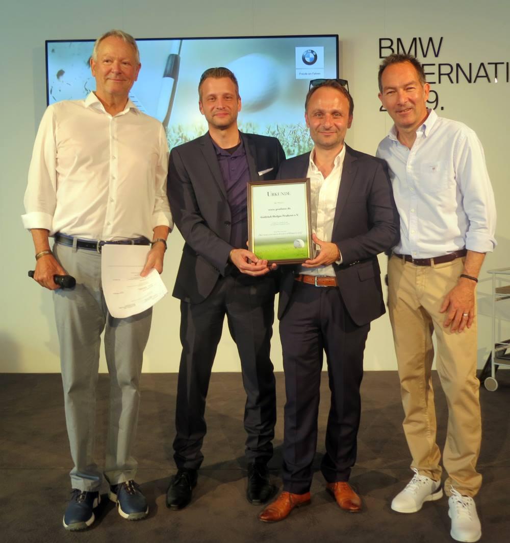 Golfclub Praforst Bayerischer Medienpreis Online Website Top 5 Platz 4 2019 Matthias Bott Marketingvorstand Frank Wiegand Controlling Vorstand