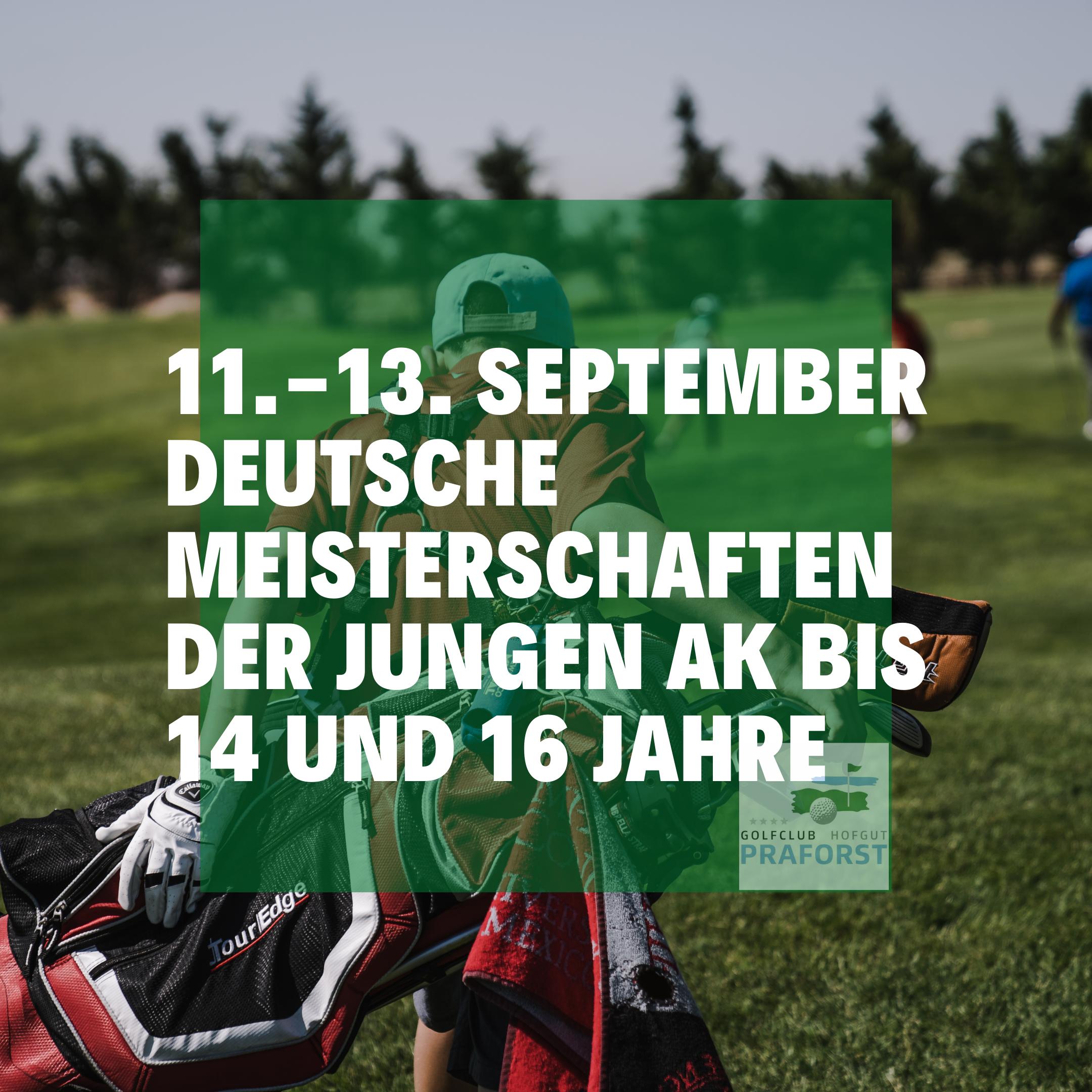 DGV Deutsche Meisterschaften DM 2020 im Golfclub Praforst